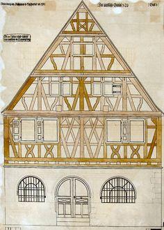 Viel Arbeit gab es für die Zimmerleute, als 1911 an der westlichen Giebelseite des Alten Rathauses der Verputz entfernt wurde und zahlreiche schwere Schäden an der Holzkonstruktion zutage traten. Über die Hälfte es Fachwerks musste erneuert werden.