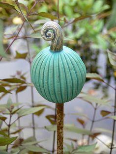 """Garten- & Pflanzenstecker - Gartenstecker türkise """"Fruchtform"""" - ein Designerstück von Brigitte_Peglow bei DaWanda"""
