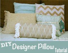 Sew Can Do: DIY Designer Pillows & Trying Out The My Own Fringemaker.  Making high-end looking decorator pillows yourself is easy this way!