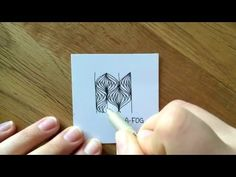 Zentangle Muster: A-Fog - YouTube