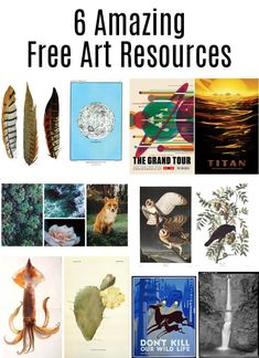 Free Art Resources: Sites with amazing free art of all styles that you can print yourself.  There is tons of free printable art online that's so good it feels like stealing. No guilt here though, because the people who owned it have either chosen to give it away, and/or are long, long dead.  You can print it yourself if you have a good printer, or you can take it to a local copy/print shop for a larger version.