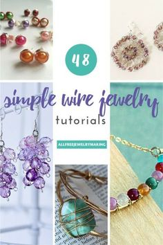 48 Simple Wire Jewelry Tutorials. Wire jewelry is trendy and fun to create! Jazz up your favorite outfit with stunning jewelry that you can DIY.