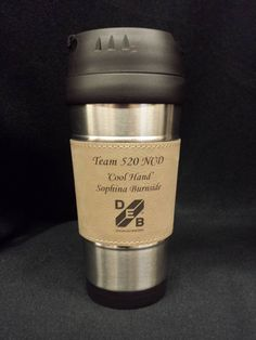 Check out Lasered Leather Grip Tumbler. Nicely lasered by Blue Ribbon Trophy. #LaserEngraving