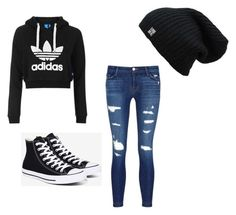 """Untitled #2"" by baily-is-unique ❤ liked on Polyvore featuring Topshop, J Brand and Converse"