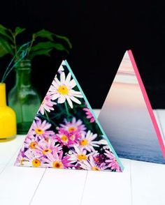 DIY Projects for Teenagers - DIY Neon Triangle Photo Frames - Cool Teen Crafts Ideas for Bedroom Decor, Gifts, Clothes and Fun Room Organization. Summer and Awesome School Stuff http://diyjoy.com/cool-diy-projects-for-teenagers