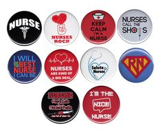 Nursing Button Badge Pin 10x Pack Or Choose by AlienAndEarthling