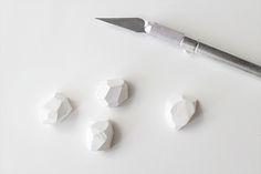 geo clay cufflinks