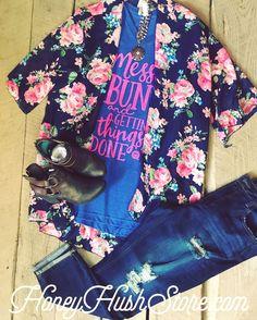 Bright Floral Kimono (Regular/Plus)