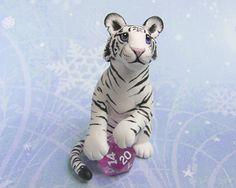 White Tiger with Dice by DragonsAndBeasties.deviantart.com on @deviantART