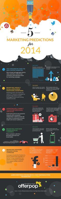 5 predicciones sobre Marketing para 2014 #infografia #infographic #marketing
