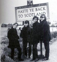 The Beatles.  Love the sign ...