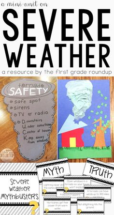 Need some support for your severe weather study? This packet has journals, experiments, word wall vocabulary cards and severe weather mythbuster activities to support your teaching!Perfect for Next Gen Science Standards for Kindergarten IN THIS RESOURCE Weather For Kids, Weather Activities For Kids, Weather Unit, Weather And Climate, Severe Weather, Extreme Weather, Science Activities, Science For Kids, Science Education