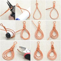 Wire wrap Pipa knot tutorial
