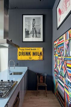 kitchen - art on walls