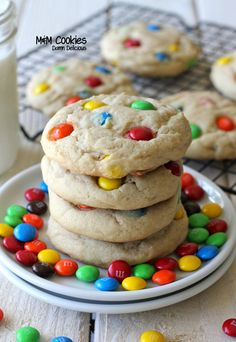 M & M cookies. For me, one of the tests of a good recipe is whether or not my cookies come out looking like the picture. This recipe turns out pretty close to it! For the nice colorful M & M presentation, place individual m & m's on top of your cookie dough balls before baking.