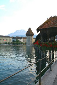 The Chapel Bridge, Lucerne, Switzerland