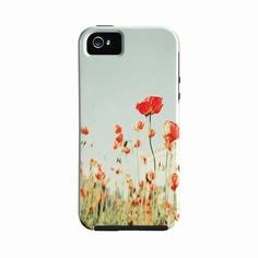 iPhone 5 Case Red Poppy Iphone 5 Case Girlie Cute  by BreeMadden, $40.00