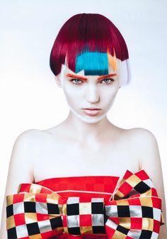 2014 Area Stylist of the year Tokyo area Prize Creative Hairstyles, Funky Hairstyles, Creative Hair Color, Avant Garde Hair, Multicolored Hair, Foto Fashion, Editorial Hair, Edgy Hair, Fantasy Hair