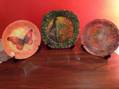 decoupage plates with paper napkins