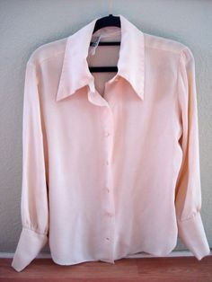 1970s Creamy Off White Crepe Poet Pirate Boyfriend by bycinbyhand, $30.00