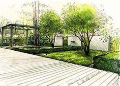 Project of the garden in Berlin. #garden # berlin #gardendesign #ogród # exterior # tuinen # jardim # jardin