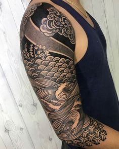 Arm Tattoos are also a fun way of showing off your personality or sentimentality. In this article we are going to give you more than 5000 Arm Tattoos Wave Tattoo Sleeve, Geometric Sleeve Tattoo, Tribal Sleeve Tattoos, Best Sleeve Tattoos, Leg Tattoos, Black Tattoos, Tattoos For Guys, Tattoo Arm, Mandala Tattoo