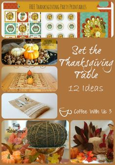 Set the Thanksgiving Table {12 Table Decor Ideas} by Coffee With Us 3