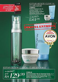 Presente  Renew Clinical a venda somente: Kit Renew Clinical Creme Clareador + Renew Perfect Cleanser Gel de Limpeza.