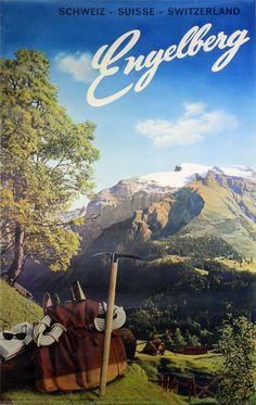 Vintage poster: Engelberg - Schweiz Suisse Switzerland by Photo: Karl Meuser