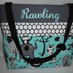 Coach signature op art baby xl diaper bag tote 16971 blue white teal jungle w dots personalized diaper bag with baby negle Image collections