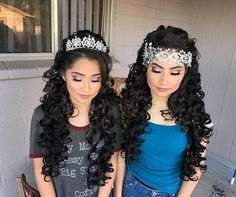 Sisters celebrating their quinceañera together ❤️✨ hair and makeup done by yours truly @glambychristopher ! #GLAMByChristopher #phxmua #Quinceanera