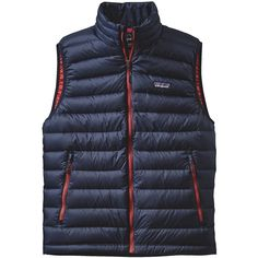 Patagonia Down Sweater Vest Navy/Red