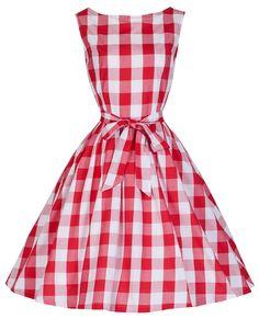 Lindy Bop 'Audrey' Millésime 1950's Rockabilly à Carreaux/Vichy Pique-Nique Partei Balançoire Robe: Amazon.fr: Vêtements et accessoires