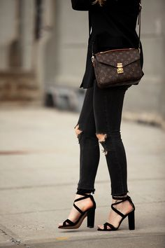 Weekend Cool   Brooklyn Blonde - Blazer   Tee: Current/Elliot   Denim: Rag & Bone   Sandals: Steve Madden Christey   Choker: HRH Collection   Sunglasses: Ray Ban   Handbag: Louis Vuitton May 16, 2016