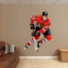 Bryan Bickell REAL.BIG. Fathead Wall Graphic | Chicago Blackhawks Wall Decal | Sports Home Decor | Hockey Bedroom/Man Cave/Nursery