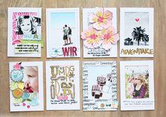 Polaroid-Minialbum / Steffi Ried / SBW Inspirationsgalerie / mit den Wortschatz Klarstempel der Scrapbook Werkstatt erstellt