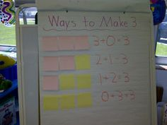 love the idea of using sticky notes while the students use cubes