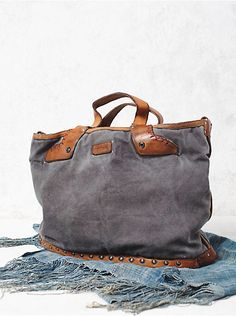 Free People Washed Rail Tote