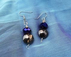 Black and blue, beaded earrings, Once upon a time, regina earrings, dangle earrings, drop earrings, evil queen jewelry, ouat jewelry