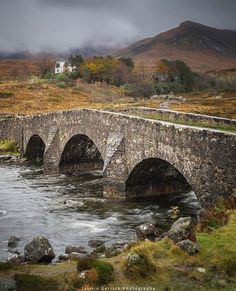 Old SLigahchan Bridge on the Isle of Skye, Scotland Scotland Travel, Highlands Scotland, Scotland Castles, Scotland Nature, Places To Travel, Places To See, Outlander, Old Bridges, England And Scotland