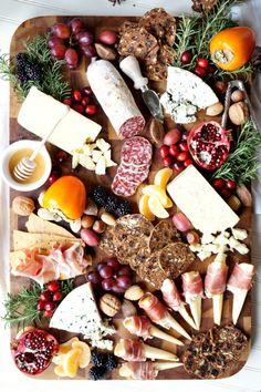 Impress all your guests this season with this gorgeous Winter Harvest Cheese Board! It combines cheeses, meats, nuts, and fruit into one beautiful spread.