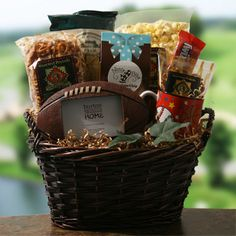 Football Frenzie   Football Gift Basket  $83.95