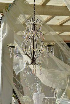 chandelier <3 shabby