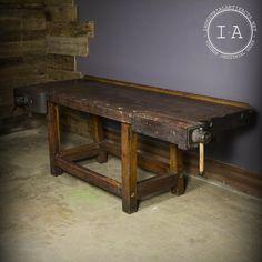 Best Antique Maple Cabinetmaker Carpenter Workbench C 640 x 480