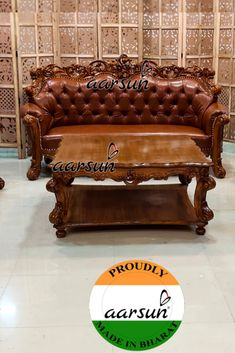 Wooden Sofa Set, Sofa Set Designs, Chesterfield Chair, Watch Video, Teak Wood, Living Room Furniture, Accent Chairs, Carving, Home Decor