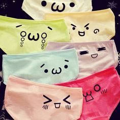 Pastel Kawaii Emoticons Underwear