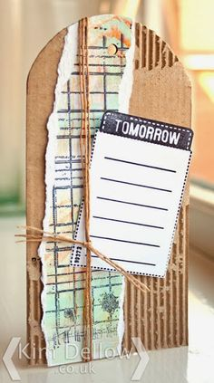 Kim Dellow: A corrugated card tag for Clare Curd Crafts from www.kimdellow.co.uk
