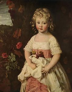 Earlier example - child's dress (day?) of white over pink petticoat.