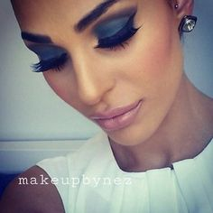 The makeup is gorgeous but I don't do fake eyelashes. ...