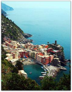 Vernazza Cove Harbor Italy